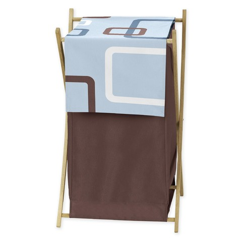 Sweet Jojo Designs Geo Blue Collection Laundry Hamper