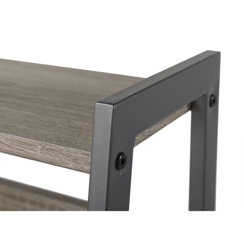 Homestar 2-Piece Laptop Desk and 4-Shelf Bookcase Set in Reclaimed Wood