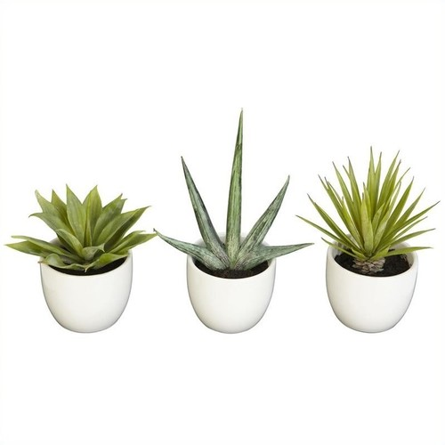 Nearly Natural Southwest Collection in Green (Set of 3)