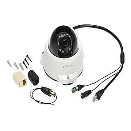 Toshiba IK-WR05A - Network surveillance camera - dome - outdoor - vandal-proof - color ( Day&Night ) - 2 MP - 1920 x 1080 - fixed iris - fixed focal - 10/100 - MPEG-4, MJPEG, H.264 - DC 12 V / PoE