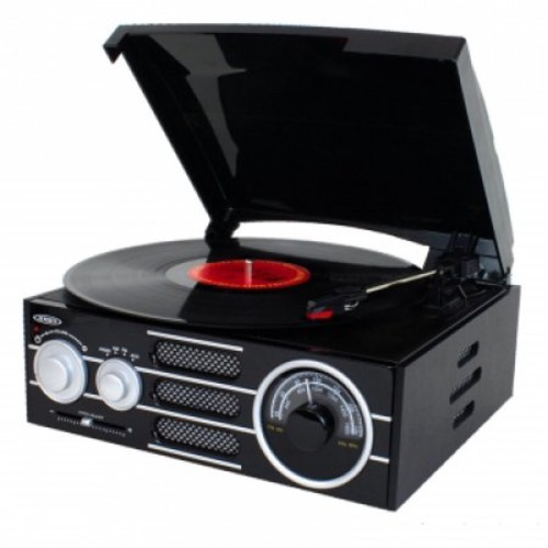 JENSEN - 3-Speed Turntable - Black