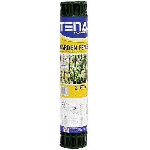 Tenax 2A140089 Polyethylene Garden Fence, 2' x 25', Green