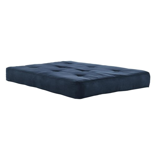 DHP 8 in. Independently Encased Coil Futon Mattress with CertiPUR-US Certified Foam in Navy