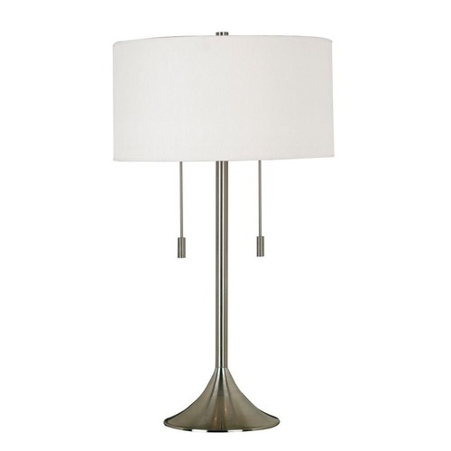 Kenroy Home Stowe 30 in. Brushed Steel Table Lamp