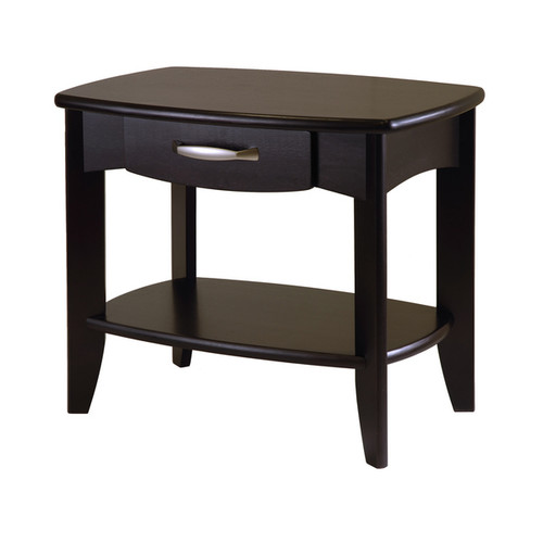 Winsome Danica Collection Espresso Brown Wood Living Room End Table