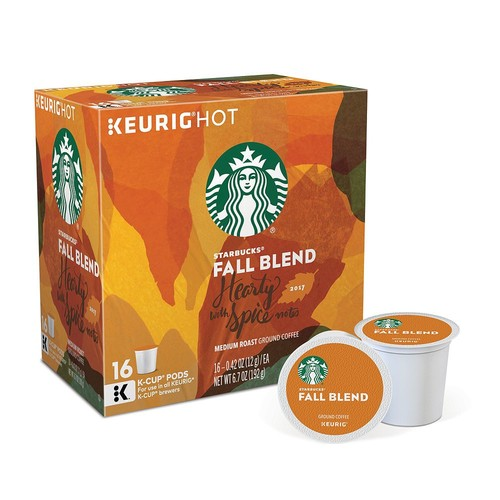 Keurig K-Cup Pod Starbucks Fall Blend Medium Roast Coffee - 16-pk.
