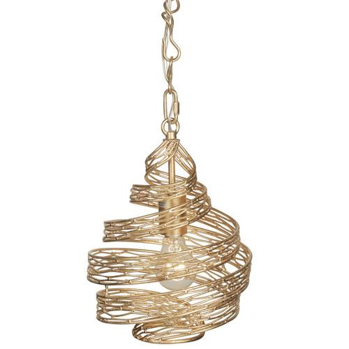 Varaluz Flow 1-Light Twist Mini Pendant