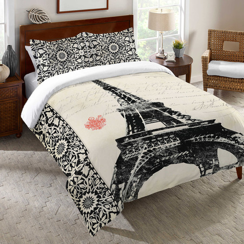 Laural Home Eiffel Tower Pattern Duvet Cover