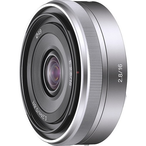 Sony Alpha 16mm F2.8 Wide-Angle E-Mount Fixed Lens for NEX-5 NEX-3 | SEL16F28 - International Version (No Warranty)