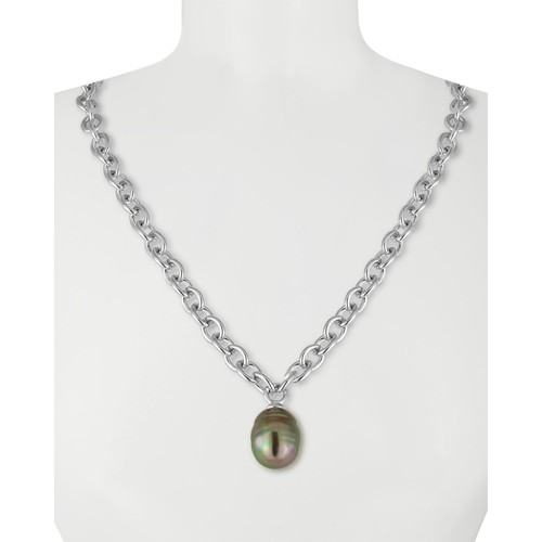 Simulated Pearl Pendant Necklace, 16