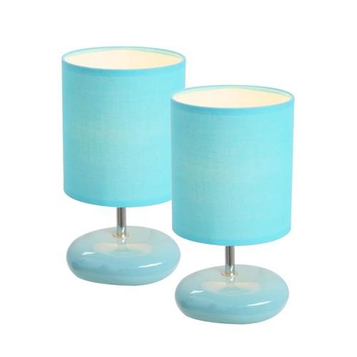 All the Rages Simple Designs LT2005-BLU-2PK Stonies Lamp 2 Pack, Blue