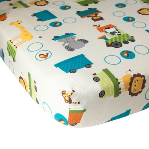 Lambs & Ivy Choo Choo Fitted Crib Sheet