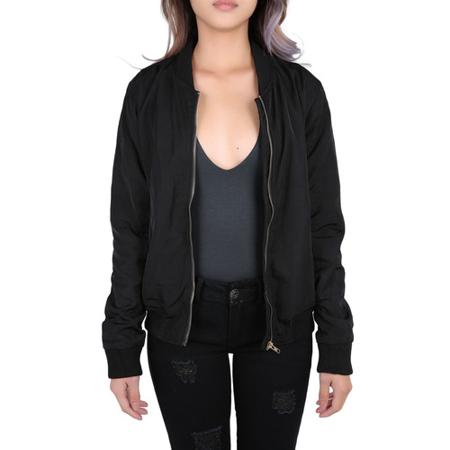 The Natalie Bomber Jacket in Black