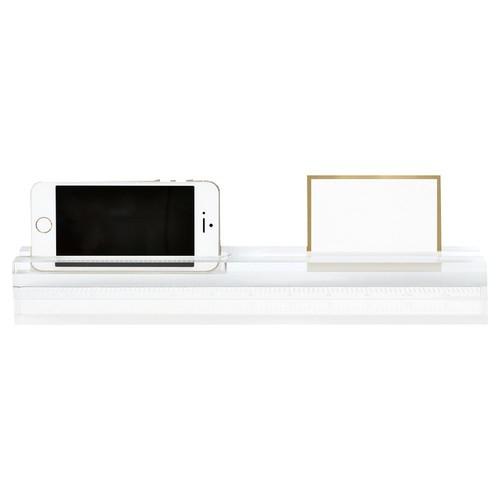 Acrylic Phone Dock & Ruler, Clear