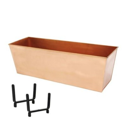 ACHLA Handrail Copper Plated Window Box Planter