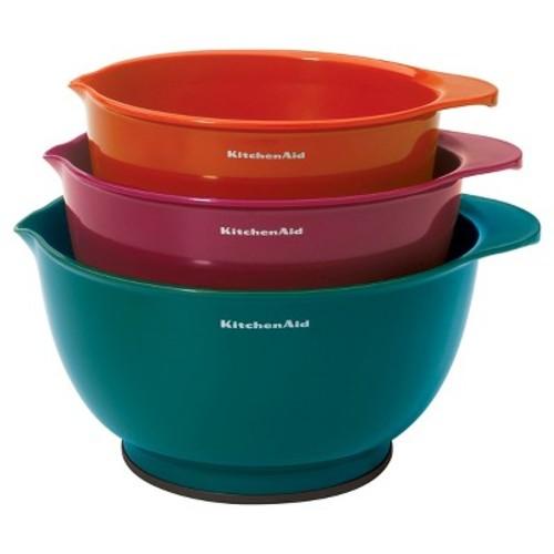 KitchenAid Mixing Bowl 3 Piece Set with Non-Slip Base
