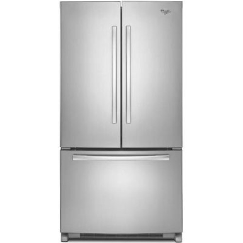 Whirlpool 36 in. W 25.2 cu. ft. French Door Refrigerator in Monochromatic Stainless Steel