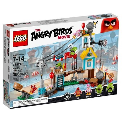 LEGO The Angry Birds Movie Pig City Teardown (75824)