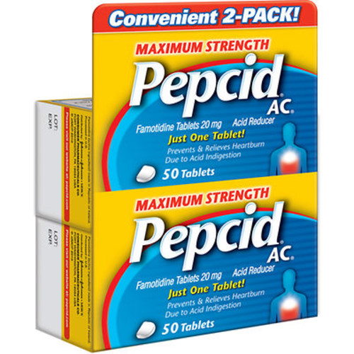 Pepcid AC Maximum Strength 20mg Acid Reducer Tablets, 100 ct.