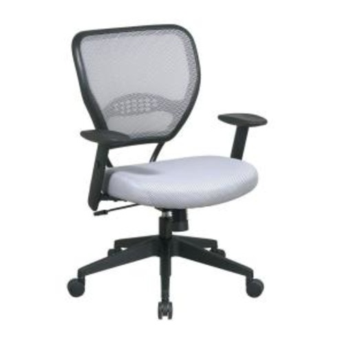 Space Seating Gray and Black AirGrid Back Office Chair
