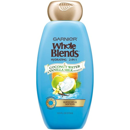 Garnier Whole Blends Coconut Water & Vanilla Milk Extracts Hydrating 2-in-1 Shampoo & Conditioner, 12.5 fl oz, 1 Count