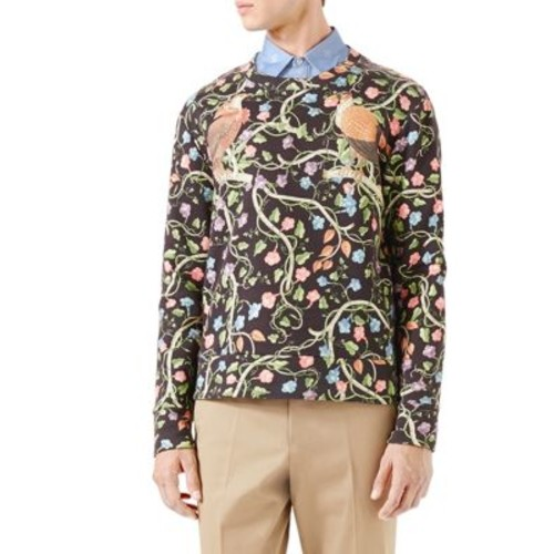GUCCI Birds Of Prey Print Sweatshirt