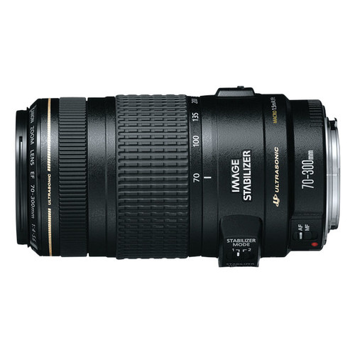 Canon EF 70-300mm f/4-5.6 IS USM Lens for Canon EOS SLR Cameras [Standard Packaging]