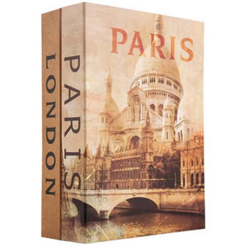 Barska Paris and London Dual Book Lock Box with Key Lock CB12470