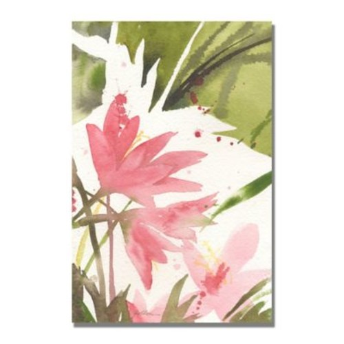 Trademark Fine Art Shelia Golden 'The Appearance of Spring' Canvas Art 22x32 Inches