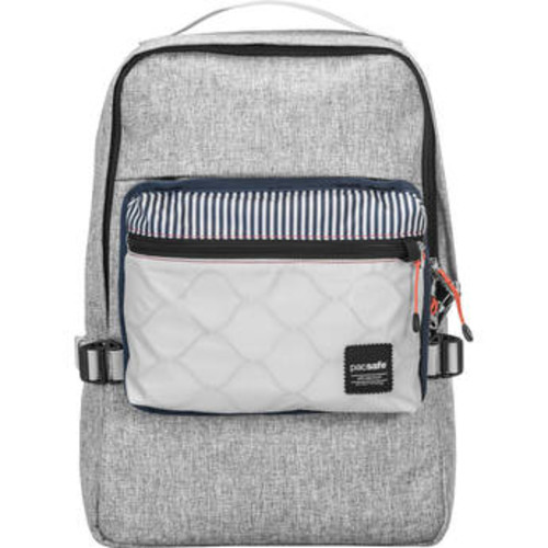 Slingsafe LX350 Anti-Theft Compact Backpack (Tweed Gray)