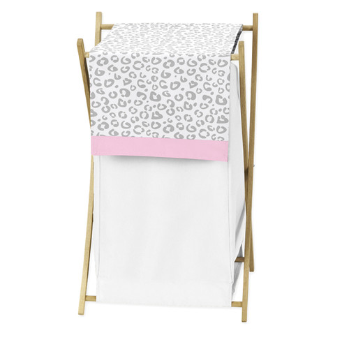 Sweet Jojo Designs Pink and Gray Kenya Collection Laundry Hamper