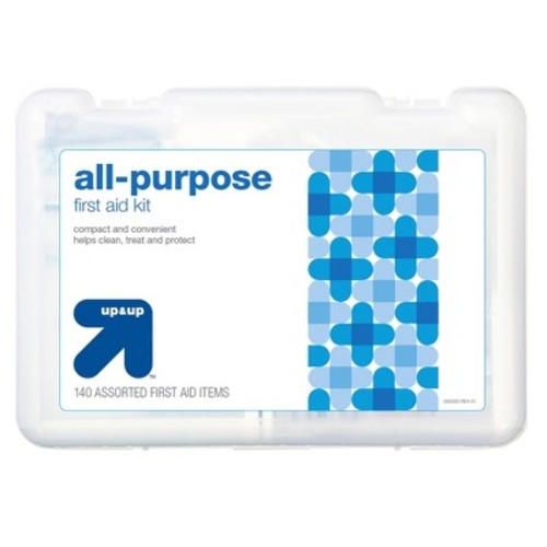 All-Purpose First Aid Kit - 140 pieces - up & up