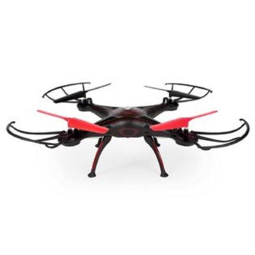 World Tech Toys Elite Rogue Drone 2.4Ghz 4.5 CH RC Quadcopter Vehicle, black_Red