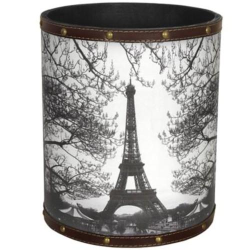 Oriental Furniture Eiffel Tower 2.9 Gallon Fabric Trash Can