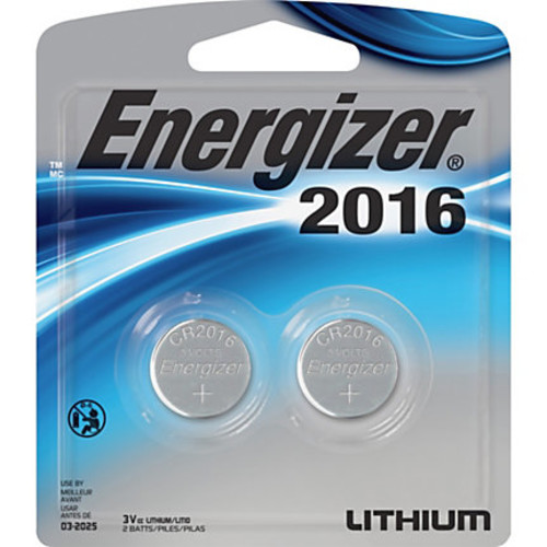 Energizer 2016 3V Watch/Electronic Batteries - Lithium (Li) - 3 V DC - 240 / Carton