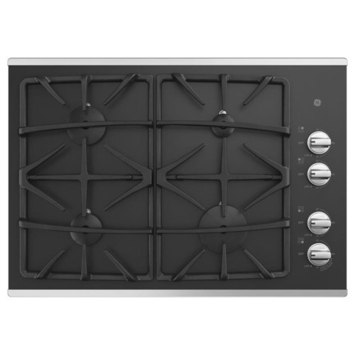 GE 4-Burner Gas Cooktop (Stainless steel) (Common: 30 -in; Actual: 30-in)