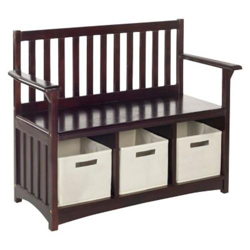 Kids Storage Bench with Bins - Guidecraft