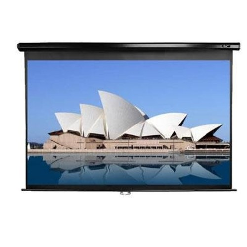 Elite Screens M94UWX 94 Diagonal 16:10 50x80 Manual Pull Down Black Projection Screen
