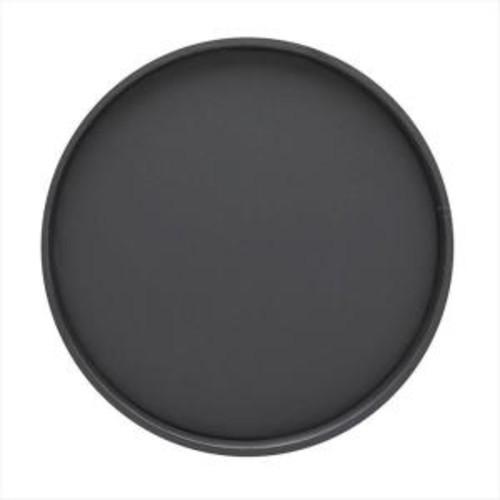 Kraftware 14 in. Round Serving Tray in Black