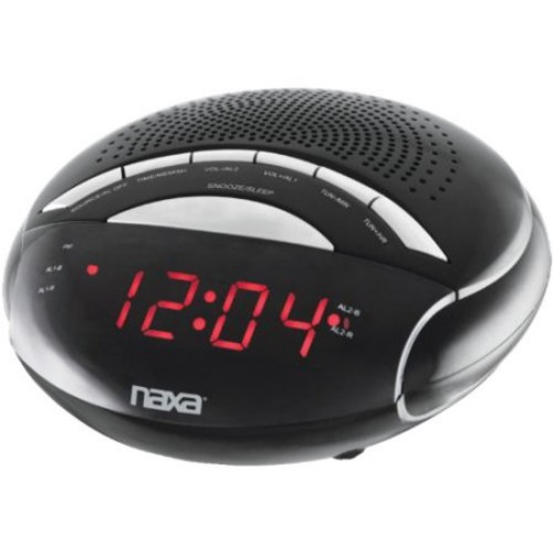 Naxa Naxa Pll Digital Alarm Clock With Am/fm Radio & Snooze