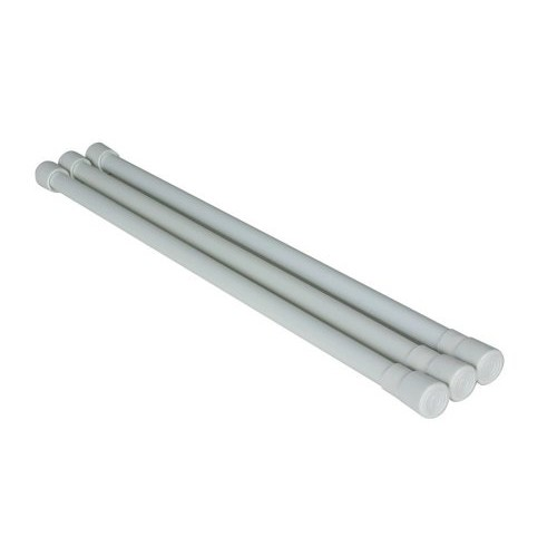 Camco 44053 White Refrigerator Bar - 3 pack [16 Inches - 28 Inches, Single Refrigerator Bar]