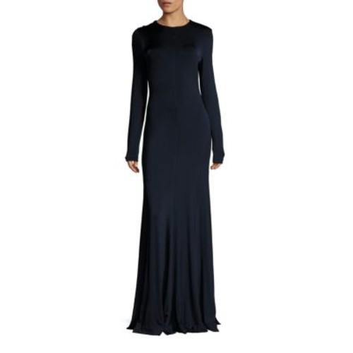 DIANE VON FURSTENBERG Long Sleeve Paneled Gown