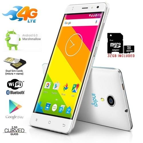 Indigi Stylish Unlocked 4G LTE SmartPhone Android 6.0 MM 5.0in QuadCore 1.3GHz 1GB/8GB - White