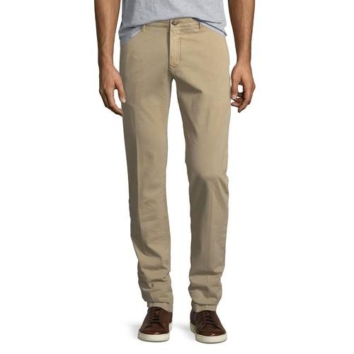 Flat-Front Stretch Chino Pants