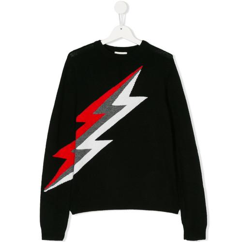 tricolour thunderbolt jumper