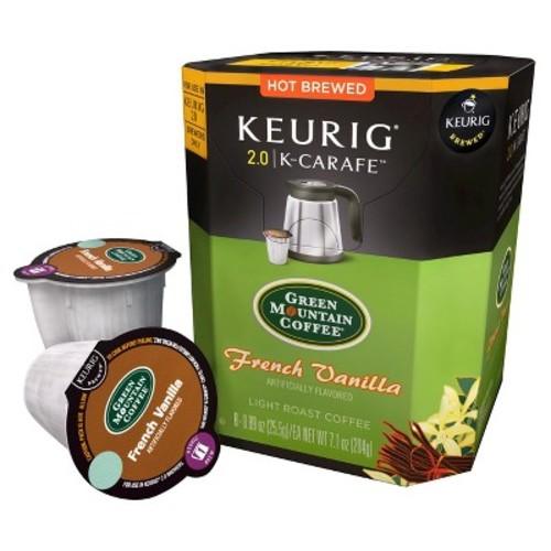 Keurig Green Mountain Coffee French Vanilla Light Roast Coffee K-Carafe 8ct