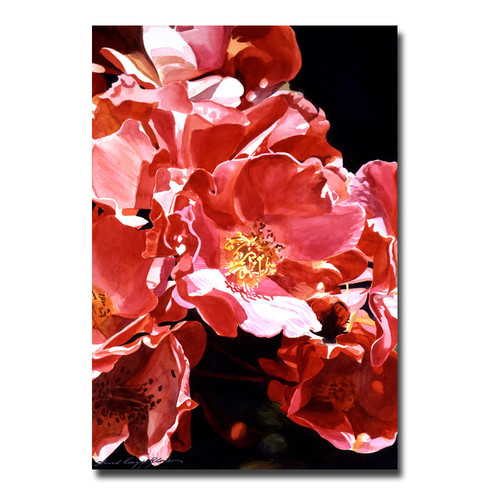Trademark Global David Lloyd Glover 'Wild Roses' Canvas Art [Overall Dimensions : 16x24]