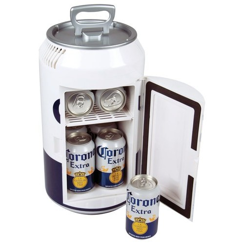 Corona - Extra Mini Can 0.24 Cu. Ft. Mini Fridge - White
