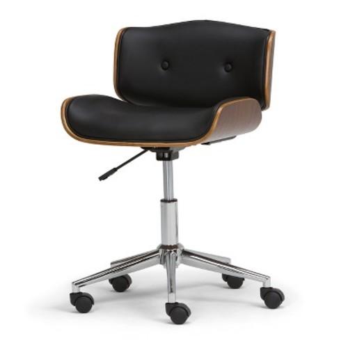 Dax Bentwood Office Chair - Black - Simpli Home