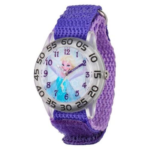 Kid's Disney Frozen Elsa Plastic Watch - Purple